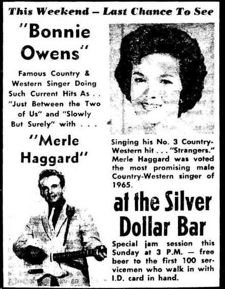Bonnie Owens and Merle Haggard Fairbanks ad