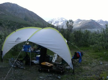 Gulkana tent and mountain
