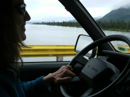 Crossing over the Susitna River