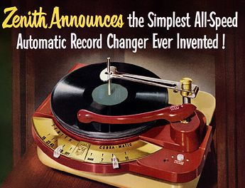 Old Zenith record player ad